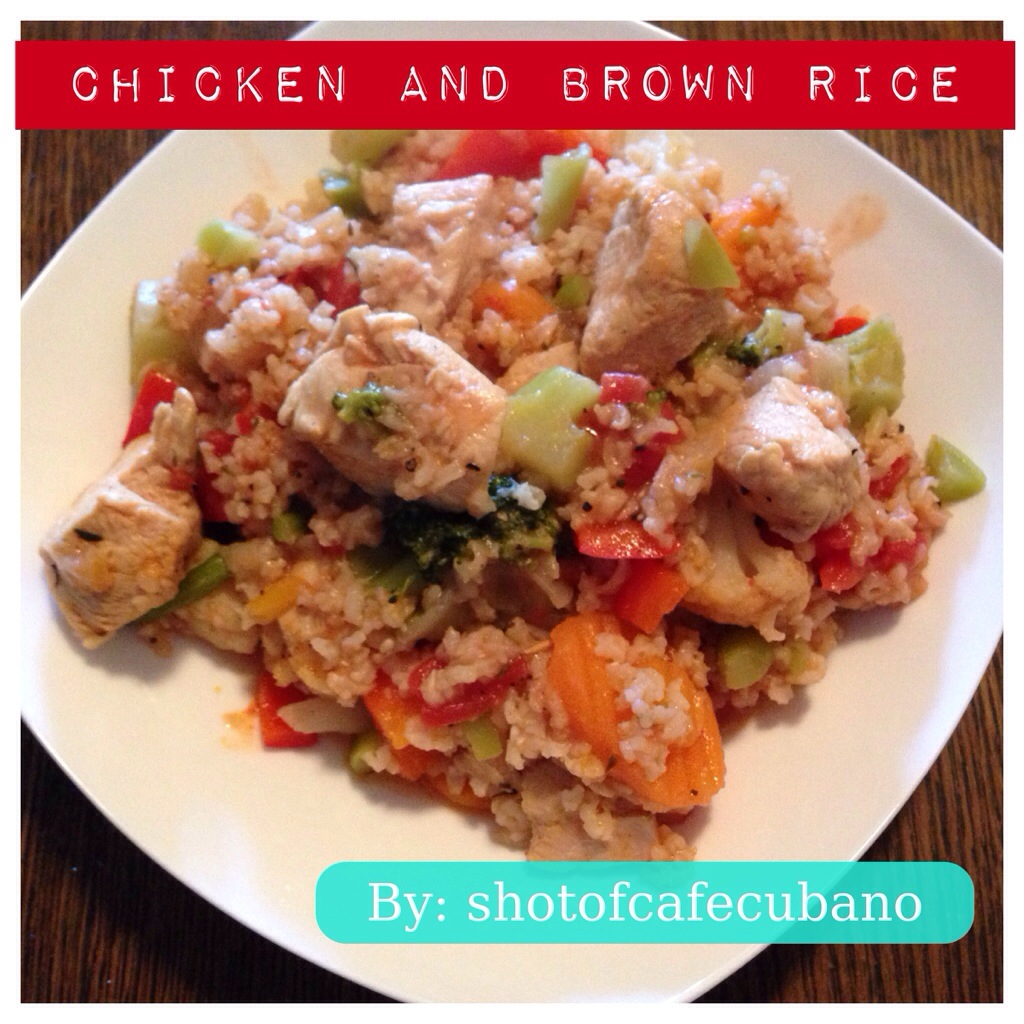 Recipe: Chicken and Brown Rice with Veggies | shotofcafecubano